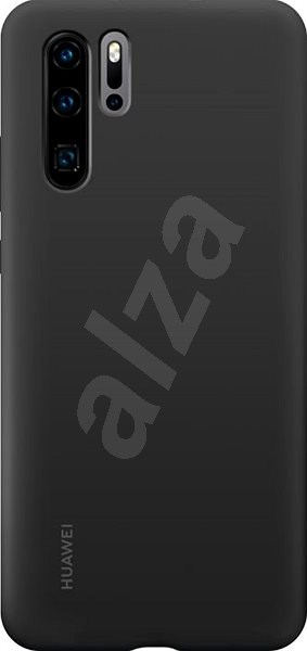 Huawei Original Silikónové Puzdro Black na P30 Pro - Kryt na mobil