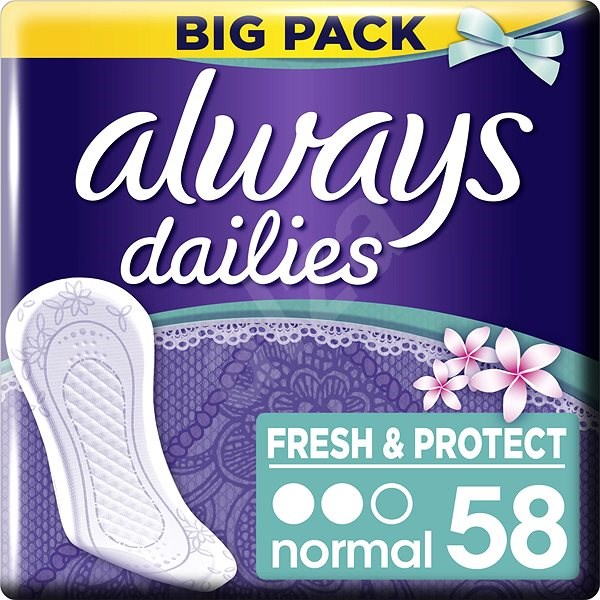 ALWAYS Fresh & Protect Normal Fresh intímky 58 ks - Slipové vložky