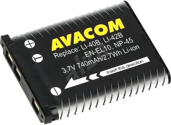 AVACOM za Olympus Li-40B, Li-42B Li-ion 3.7V 740mAh 2.7Wh AVA - Batéria do fotoaparátu