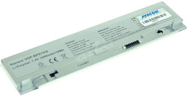 AVACOM za Sony Vaio VGN-P series VGN-P11/P50, VGP-BPS15/S Li-Pol 7.4V 2400mAh/18Wh strieborná - Batéria do mobilu