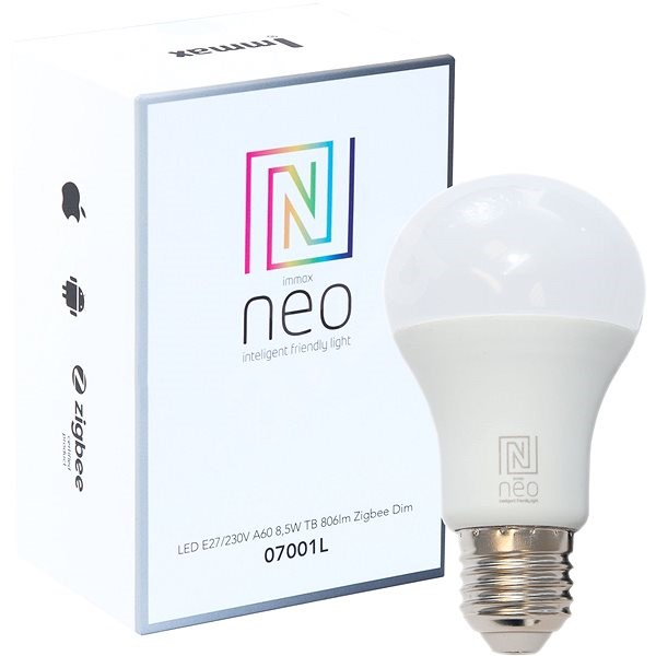 Immax Neo LED E27 8,5 W 806 lm Zigbee Dim - LED žiarovka