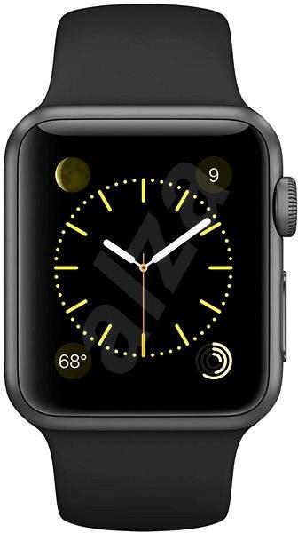 Apple Watch Sport 38 mm Kozmicky sivý hliník s čiernym remienkom - Smart hodinky