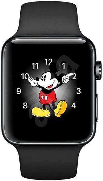 Apple Watch Series 2 42 mm Vesmírne čierna nehrdzavejúca oceľ s vesmírne čiernym športovým remienkom - Smart hodinky