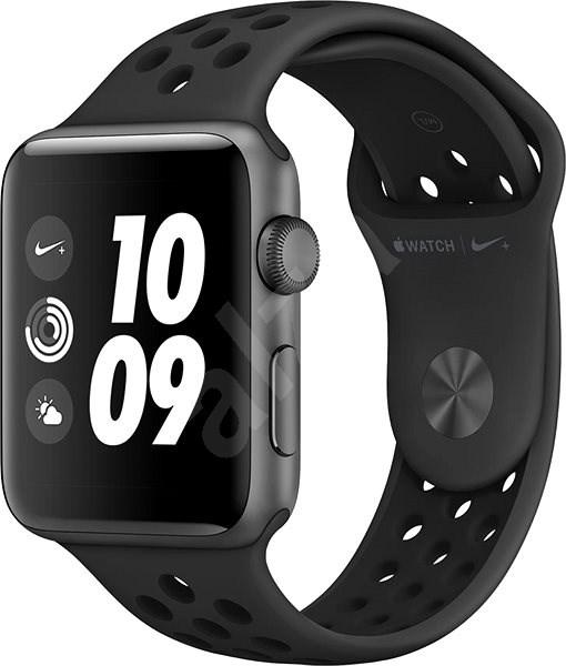 Apple Watch Series 3 Nike+ 42 mm GPS Vesmírne šedý hliník s antracitovým športovým remienkom Nike - Smart hodinky