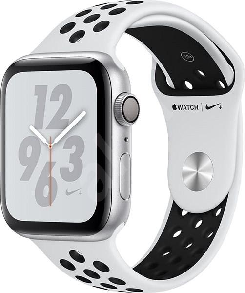 Apple Watch Series 4 Nike+ 44mm Strieborný hliník s platinovým/čiernym športovým remienkom Nike - Smart hodinky