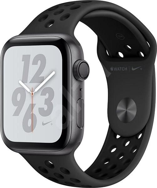 Apple Watch Series 4 Nike+ 44mm Vesmírne čierny hliník s antracitovým/čiernym športovým remienkom Nik - Smart hodinky