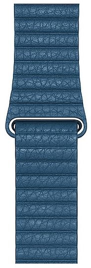 Apple 44 mm Modro-sivy kožený, Large - Remienok
