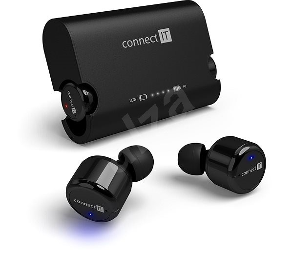 CONNECT IT True Wireless HYPER-BASS čierne - Slúchadlá s mikrofónom