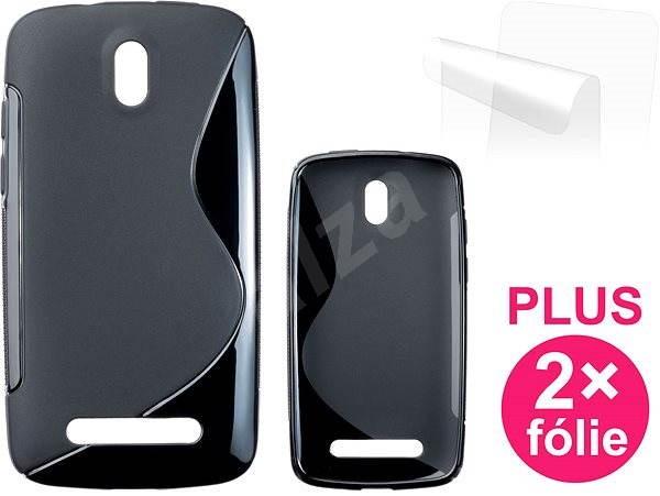 CONNECT IT S-Cover HTC DESIRE 500 čierne - Puzdro na mobil