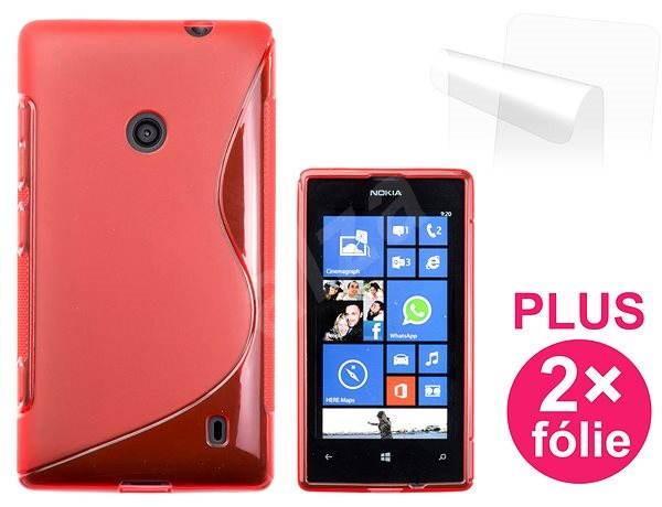 CONNECT IT S-Cover Nokia Lumia 520 červené - Puzdro na mobil