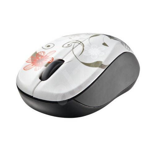 Trust Vivy Wireless Mini Mouse - Grey Flowers  - Myš