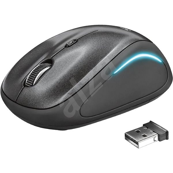 Trust Yvi FX Wireless Mouse – black - Myš