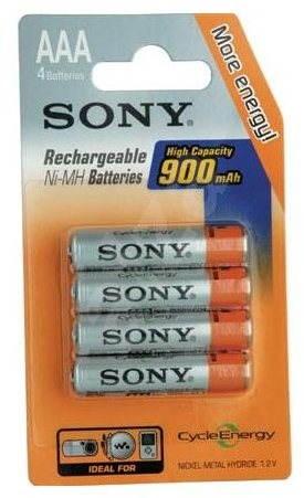 Sony NiMH 900mAh, AAA, 4ks - Jednorazová batéria