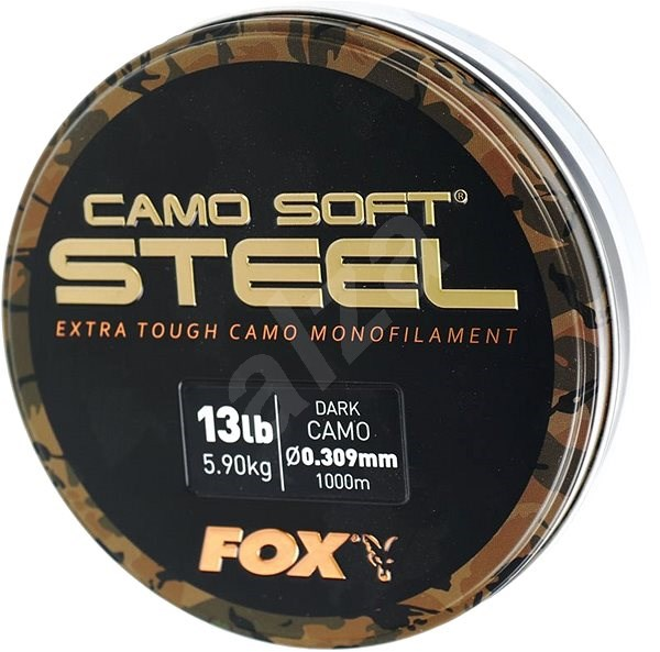 FOX Soft Steel 0,309 mm 5,9 kg 13 lbs 1000 m Dark Camo - Vlasec