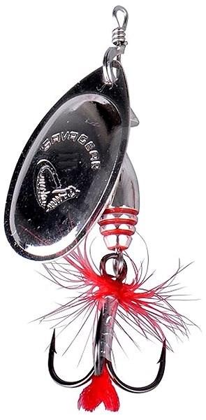 Savage Gear Rotex Spinner Veľkosť 2 a 4 g Matt Silver - Trblietka