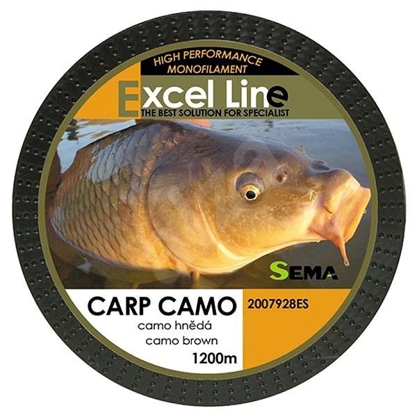 Sema Vlasec Carp Camo Brown 0,28 mm 9,85 kg 1 200 m - Vlasec