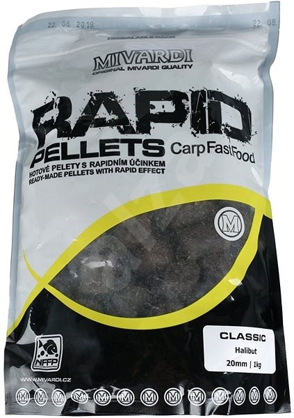 Mivardi Pelety Rapid Classic Halibut 20 mm 1 kg - Pelety