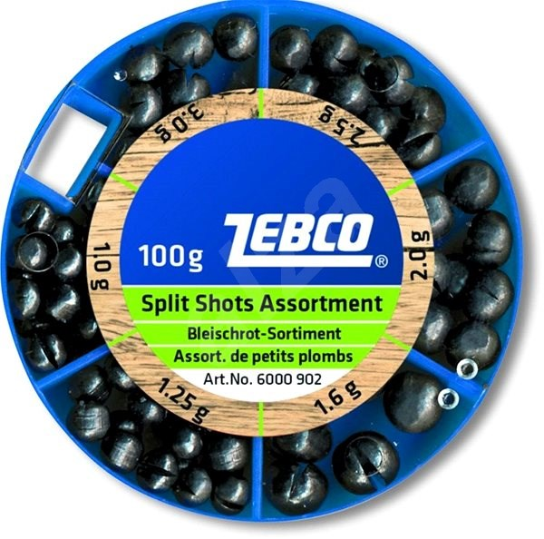 Zebco Split Shot Assortment Coarse 100 g - Broky