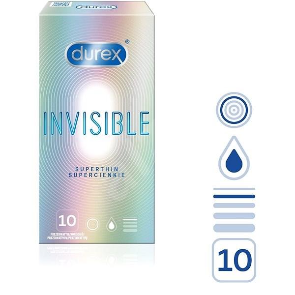 DUREX Invisible Extra Thin Extra Sensitive 10 ks - Kondómy