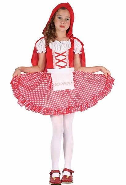 Šaty na karneval – Červená čiapočka veľ. S - Detský kostým f41fc626154
