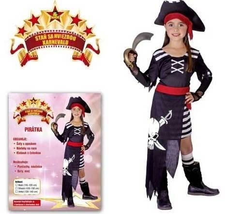 e751aab104b8 Šaty na karneval – Pirátka veľ. S - Detský kostým