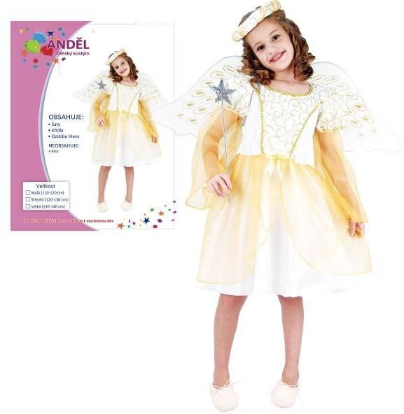 Šaty na karneval - Anjel vel. M - Detský kostým  b6ae93008d7