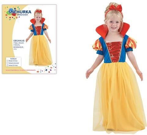 Šaty na karneval – Snehulienka veľ. XS - Detský kostým  4e8137d3c2c