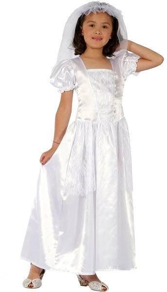 d3558047b9bb Šaty na karneval - Nevesta vel. S - Detský kostým