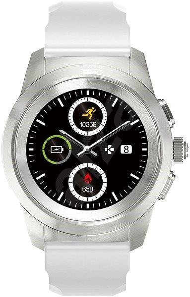 MyKronoz ZeTime Original Silver/White - 44 mm - Smart hodinky
