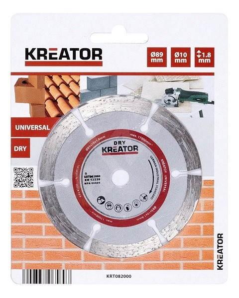 Kreator Diamantový kotúč KRT082000 - Rezný kotúč