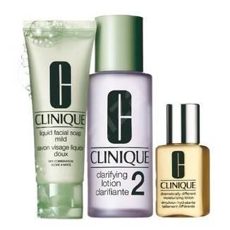 f90b80f6f0 Clinique 3 Step Skin Care System 2 - Suchá až zmiešaná pokožka - Kozmetická  sada