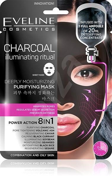 EVELINE Cosmetics Charcoal Deeply Moisturizing Face Sheet Mask - Pleťová maska