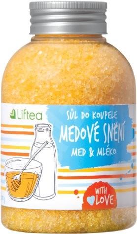 LIFTEA Soľ do kúpeľa Medové snenie 600 g - Soľ do kúpeľa