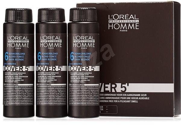 ĽORÉAL PROFESSIONNEL Homme COVER 5' 6 3× 50 ml (6 – tmavá blond) - Farba na vlasy pre mužov