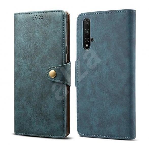 Lenuo Leather pre Honor 20/Huawei Nova 5T, modré - Puzdro na mobil