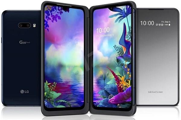 LG G8X ThinQ Dual Screen čierna - Mobilný telefón