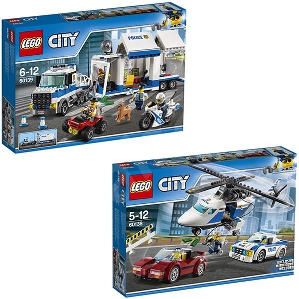 8ff9d7db9 LEGO City 60138 Naháňačka vo vysokej rýchlosti + LEGO City 60139 Mobilné  veliteľské centrum - Herná