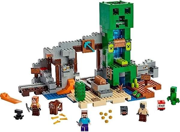 LEGO Minecraft 21155 Creeperova baňa - LEGO stavebnica