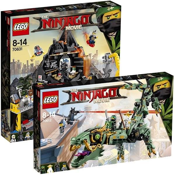 LEGO Ninjago 70612 Robotický drak Zeleného nindžu + LEGO Ninjago 70631 Garmadonov sopečný brloh - Herná sada