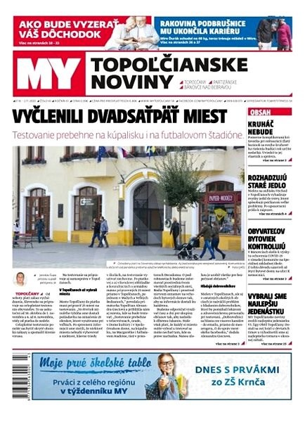 MY Topoľčianske noviny - 44/2020 - Elektronické noviny