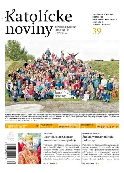 Katolícke noviny - 39/2018 - Elektronické noviny