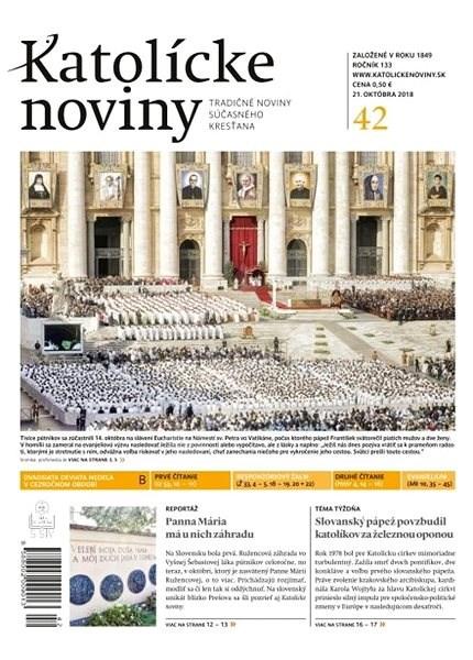 Katolícke noviny - 42/2018 - Elektronické noviny