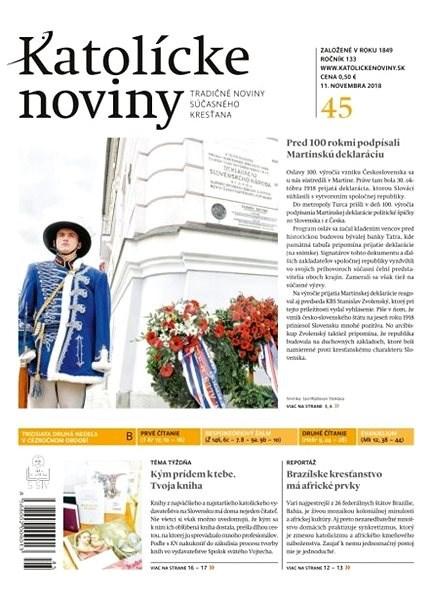 Katolícke noviny - 45/2018 - Elektronické noviny