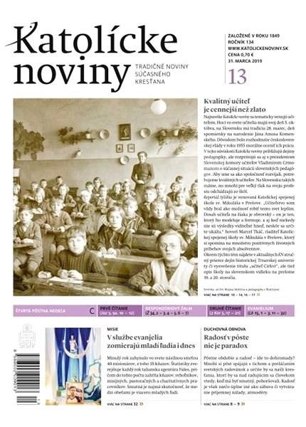 Katolícke noviny - 13/2019 - Elektronické noviny