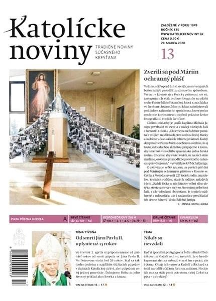 Katolícke noviny - 13/2020 - Elektronický časopis