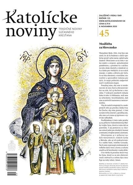 Katolícke noviny - 45/2020 - Elektronické noviny