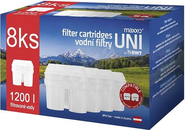 Maxxo Náhradné uni vodné filtre Maxxo 8 ks - Filtračná patróna