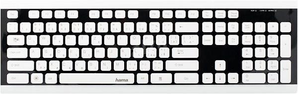 Hama Covo čierna/biela CZ + SK - Klávesnica