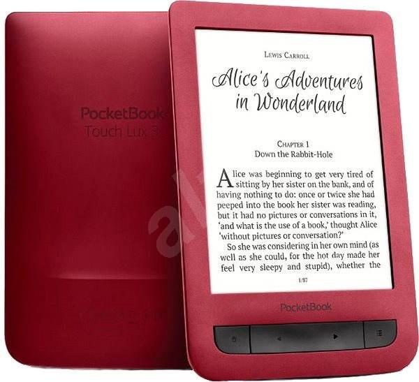 PocketBook 626 (2) Touch Lux 3 červená - Elektronická čítačka kníh