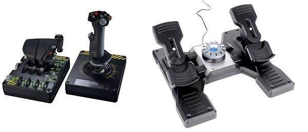 Saitek Pro Flight X55 Rhino H.O.T.A.S. + Pro Flight Rudder Pedals - Joystick
